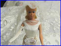 #1665 Vintage Barbie HERE COMES THE BRIDE HTF 1966-67 DRESS VEIL