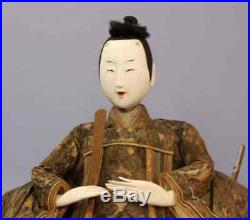 1750 Edo Vintage Japan Hina Ningyo Doll Gofun 51cm & 43cm Rare Man Woman Set