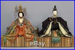 1853 Bakumatsu era Hina ningyo Girl Hinamatsuri Kimono Vintage Japann doll RK12