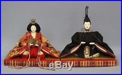 1927 Bakumatsu era Hina ningyo Girl Hinamatsuri Kimono Vintage Japann doll RK13