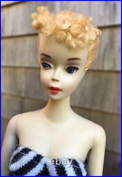 1960 Vintage #3 Blond Ponytail Barbie Doll