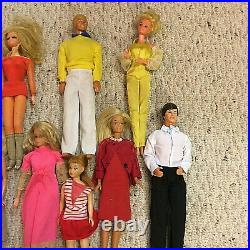 1960s Lot 14 Vintage Barbie Dolls, Ken&Skippers Twist&Turns +Clothes Estate Find