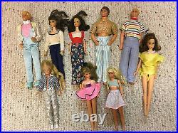 1960s Vintage Barbie Dolls Lot 9 Twist&Turns Bendable Legs Eyelashes Estate Find