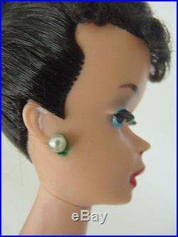 1960s Vintage Ponytail Brunette Barbie doll Japan Blue Eyeliner Dark Red Lips