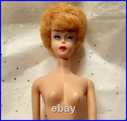 1961 Blonde Bubble Cut in Box Accessories Highly Collectible