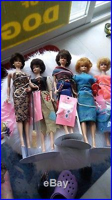 1962 BUBBLE CUT BARBIE DOLLS 4 JAPAN in 60's outfits LOT of 5 VINTAGE 1960's