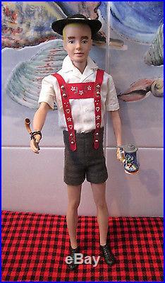 1964 Japan Vtg. Barbieken In Switzerland#0776hat-pipe+stein1961 Ken Doll #750