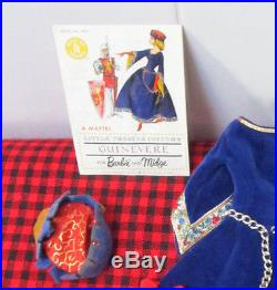 1964 VTG. BARBIE Little Theatre CostumeGUINEVERE873COMPLETE+A+MINT8 Pc JAPAN