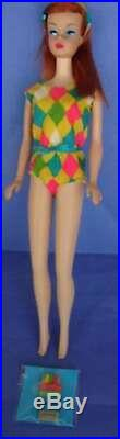 1966 Vintage Red-Black Color Magic Barbie Mattel made in Japan free shipping