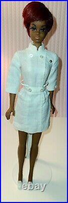 1969 Vintage Mattel Barbie Doll Nurse Julia Twist N' Turn Exc