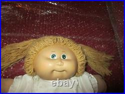 1983 TSUKUDA Japan Cabbage Patch Kids COLECO Girl Doll #1 Blonde Hair Green Eyes