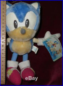 1998 Pastel Sega Sonic The Hedgehog! Ufo Prize Japan Plush Toy Doll Vintage Rare