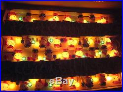 1999 Sanrio VTG Japan Auth hello kitty CHRISTMAS light 21 music doll figures BIG