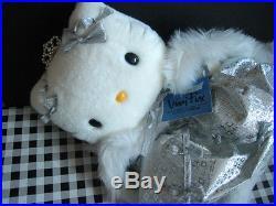 1999 VTG Sanrio Japan VIVITIX Auth SILVER crown Hello Kitty RARE Doll Plush 8