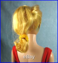 1 VINTAGE Lemon Blonde Swirl PONYTAIL BARBIE DOLL Original Red Helenca SWIMSUIT