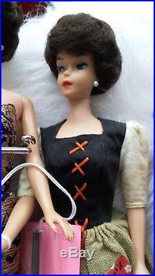 5 1962 1960's BUBBLE CUT Barbie Dolls 4 Japan Original outfits Vintage 1960's