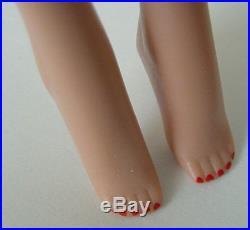 60s Vintage Mattel Ponytail Dark Brunette Barbie Doll #5 Japan Blue Eyeliner #4