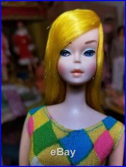 66 Stunning Golden Blond Color Magic Barbie Doll Original Swim Suit