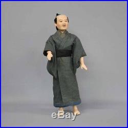 Antique Meiji era Three fold Lifelike doll 64cm Raw doll Vintage 1870 From Japan