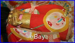 Antique Vintage Japanese Itchimatsu Collectors Doll Oriental Costume Composition
