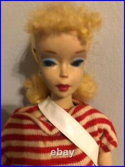BARBIE #3 PONYTAIL Barbie all ORIGINAL Blue Eye Shadow Estate Find