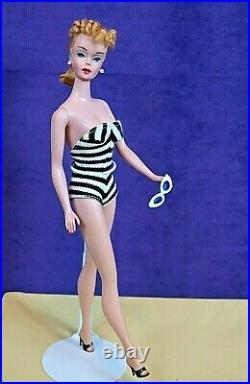 BEAUTY #4 Vintage Barbie Blond Ponytail OSS Glasses Shoes Std Repro Box BIN