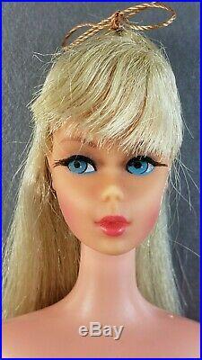 Barbie Doll Tnt Twist N Turn 1966-68 Japan Blonde Rooted Eyelashes Vintage Nude