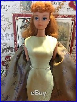 Beautiful Vintage 1962 Titian Redhead Ponytail Barbie 850 Japan Mint