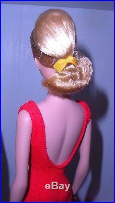 Beautiful Vintage 1964 Ash Blonde Swirl Ponytail Barbie 850 Japan Mint