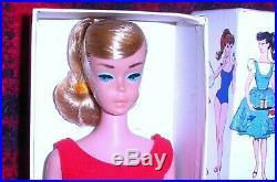 Beautiful Vintage 1964 Ash Blonde Swirl Ponytail Barbie 850 Japan Mint MIB