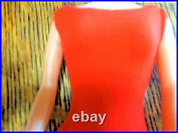 Beautiful Vintage Platinum Bubblecut Barbie withHuge Pink Lips in Orig Box! WOW