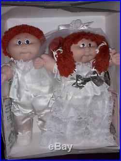 Cabbage Patch Kids Doll Vintage HTF Tsukuda Japan Wedding Bride and Groom MIB