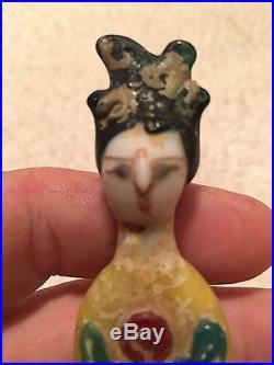 Collectible Japan Porcelain Geisha Girl Doll Japanese award Old Vintage Glass
