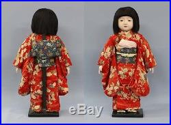 Early Showa Ichimatsu ningyo Girl Zen Wa Kimono Vintage Japann Kyoto-Doll RK11