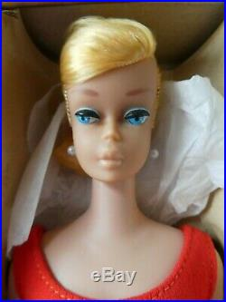 Early Vintage Barbie Blonde Swirl Ponytail Barbie Doll in OSS VGC