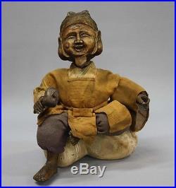 Edo costume doll Shichifukujin Saga doll Kamo antique vintage 1800s JAPAN
