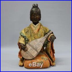 Edo costume doll Shichifukujin Saga doll Kamo antique vintage MADE in JAPAN F/S