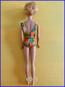 European Side part BubbleCut Barbie blonde Color Magic Swimsuit All Original Htf