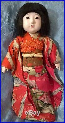 FABULOUS VTG 40's 50's LARGE 18 JAPANESE GOFUN ICHIMATSU GIRL DOLL. EXC. COND