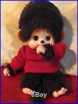 F/S Vintage Authentic Toho Daisuke Monchhichi Monkey Doll 13 Sleep Eyes Japan