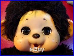 F/S Vintage Japan Toho Daisuke Monchhichi Monkey Doll 13 Sleep Eyes Base ball