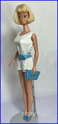 Gorgeous Vintage Blonde American Girl Barbie in Pak Scoop Neck Playsuit Set