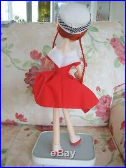 HTF VINTAGE Bradley big eye pose doll 18 inches 1960's Japan