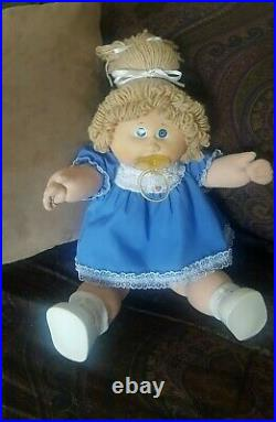 HTF Vintage Cabbage Patch Tsukuda Doll Blonde PACI Clothes Hang Tag Jesmar CPK
