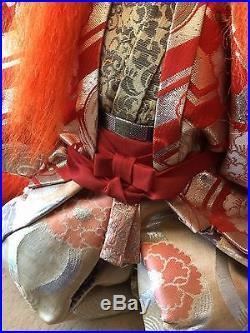 Japan Japanese Vintage Kabuki Lion Dancer Doll Rejishi Very Good Father Son