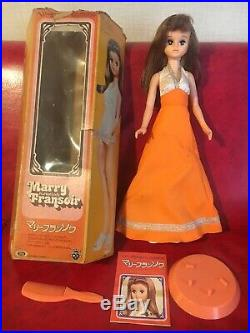 Japan TAKARA x IDEAL 1976 Vintage Doll Marry Fransoir 16 42cm Real Lash HTF