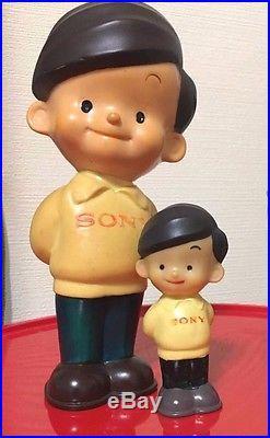 Japan Vintage SONY BOY Atchan Soft Vinyl Advertising 4 & 8 Figure Doll Set