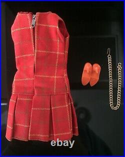 Japanese Exclusive Barbie 1960 MOD RARE VINTAGE PLAID DRESS +ACCESSORIES NO DOLL