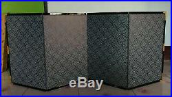 Japanese Folding Screen Vtg Byobu Wood Lacquer Gold 4 panel
