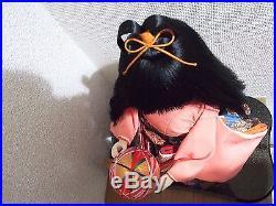 Japanese Vtg. Ancient doll/Japanese KImono girl/ichimatsu/figure/Geisha/maiko